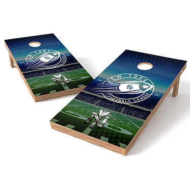 New York Football League Cornhole Board Wrap