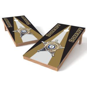 Custom Sheriff Badge Cornhole Board Wrap - Submit Your Badge