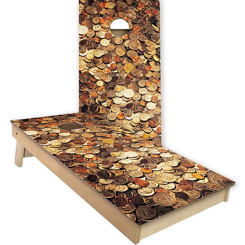Coins Give Your Two Cents Cornhole Board Set