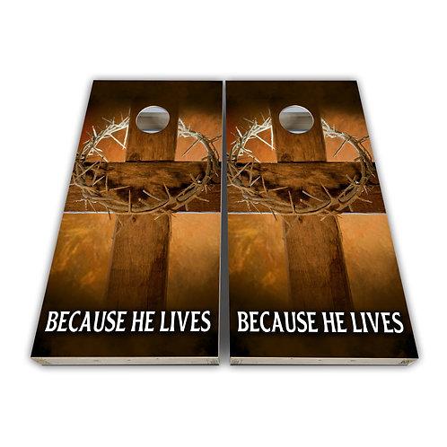 Religious Holy Cross Cornhole Board Set Baggo Set