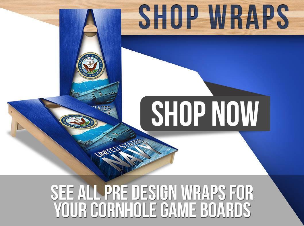 Custom Cornhole Wraps Skins