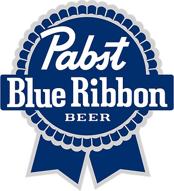 Pabst Blue Ribbon Cornhole Board Decal Sticker