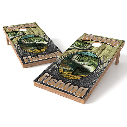 Gone Bass Fishing Cornhole Wrap Baggo Bag Toss Corn Toss Wrap