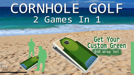 NEW HOT Cornhole Golf - Play 2 games with your cornhole boards Cornhole & Golf, 2 games in 1