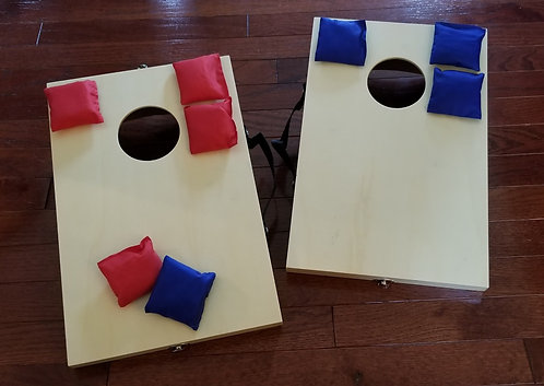 "10 1/2"" x 15 3/4"" Mini Bean Bag Toss Cornhole Game Set-Table Top Cornhole Boards"