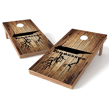 Tennessee Roots Wood Corn Hole Wrap
