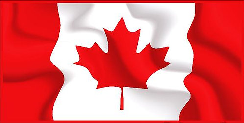 Canadian Flag cornhole decal sticker
