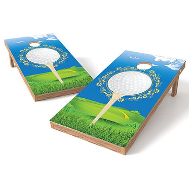 Tee Time Golf Cornhole Board Baggo Bag Toss Cornhole Wrap