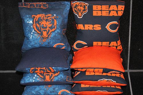 Bears Football Cornhole bags, set of (8)
