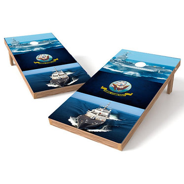 United States Navy Ships Military Cornhole Wrap