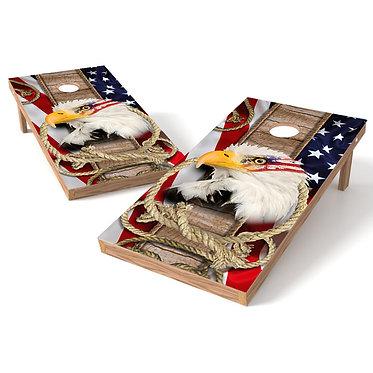American Eagle Cornhole Wrap