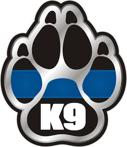 K9 Paw Cornhole Decal Sticker