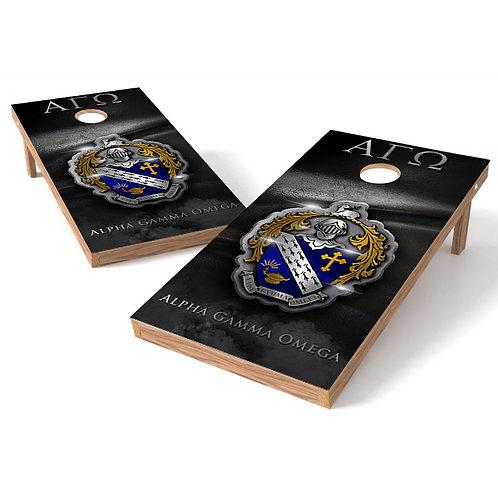 Fraternity Alpha Gamma Omega Cornhole Wrap - Greek Cornhole Wrap