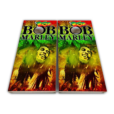 Bob Marley Cornhole Decal Wrap