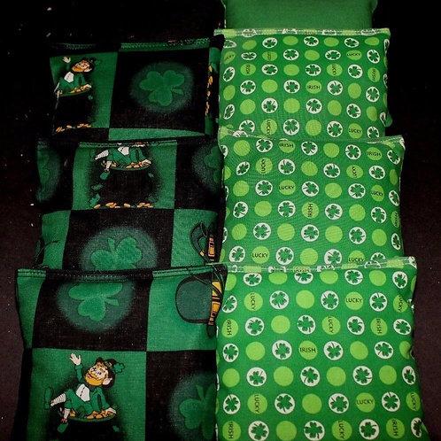 Irish St Patty Cornhole bags, set of (8)