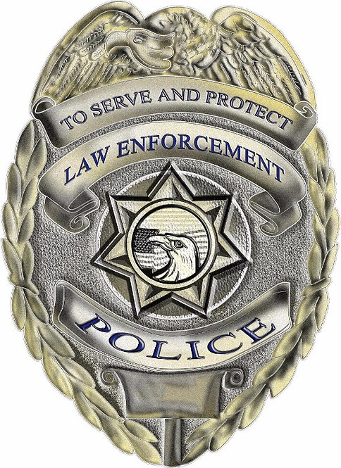 To Serve and Protect Police Badge Cornhole Board Decal Sticker