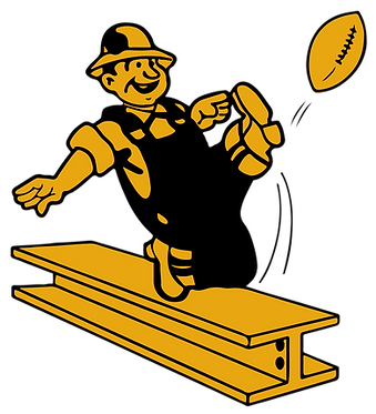 Steeler Football Cornhole Decal Sticker