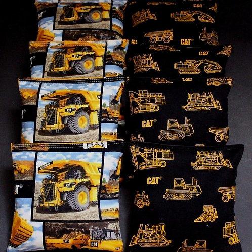 Caterpillar Dozer CAT Cornhole bags, set of (8)