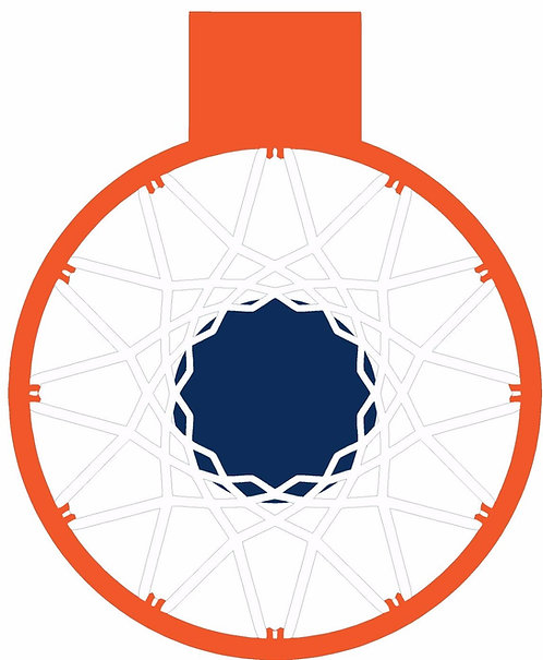 Basketball Net Cornhole Decal Sticker - No Blue is Printed