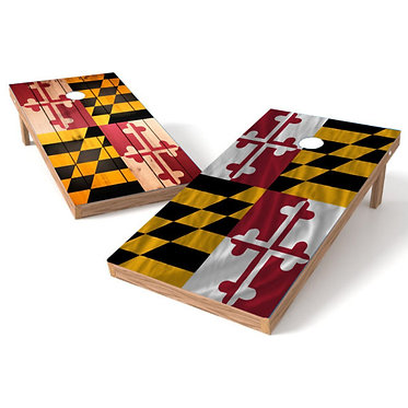 Maryland Flag Wood and Cloth