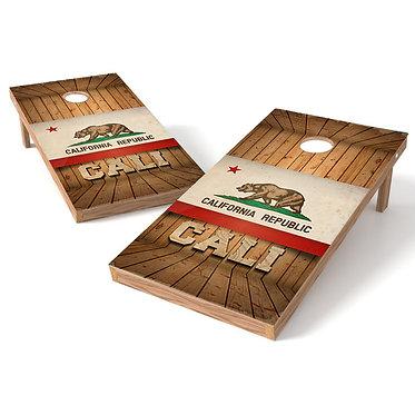 California Wood Cornhole Wrap