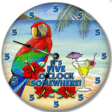 5 o'clock somewhere clock Cornhole Decal Sticker