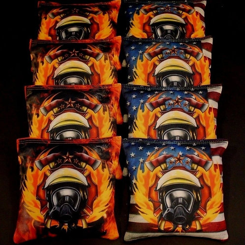 Fire Fighter Rescue Cornhole bags, set of (8)