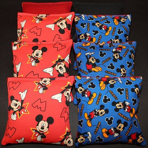 MICKEY MOUSE 8 ACA Regulation Cornhole bags, set of (8)