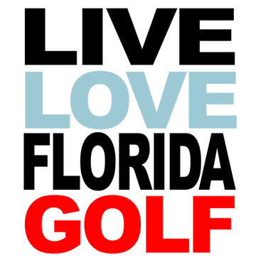 Live Love Florida Golf Cornhole Decal Sticker