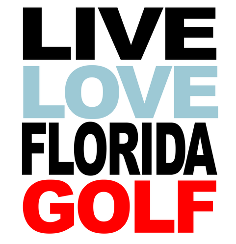 Live Love Florida Golf Cornhole Decal Sticker - White