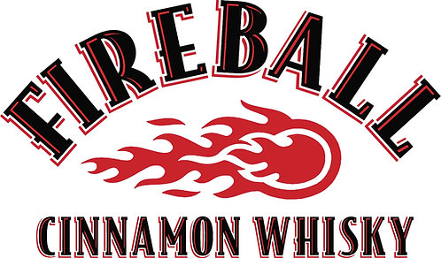 Fireball Cornhole Board Decal Sticker