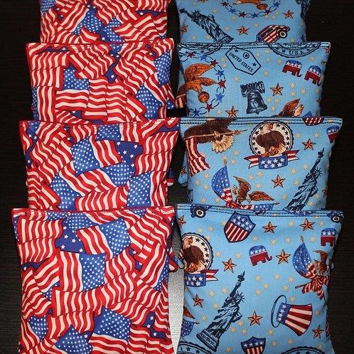 United States Symbols Cornhole bags, set of (8)