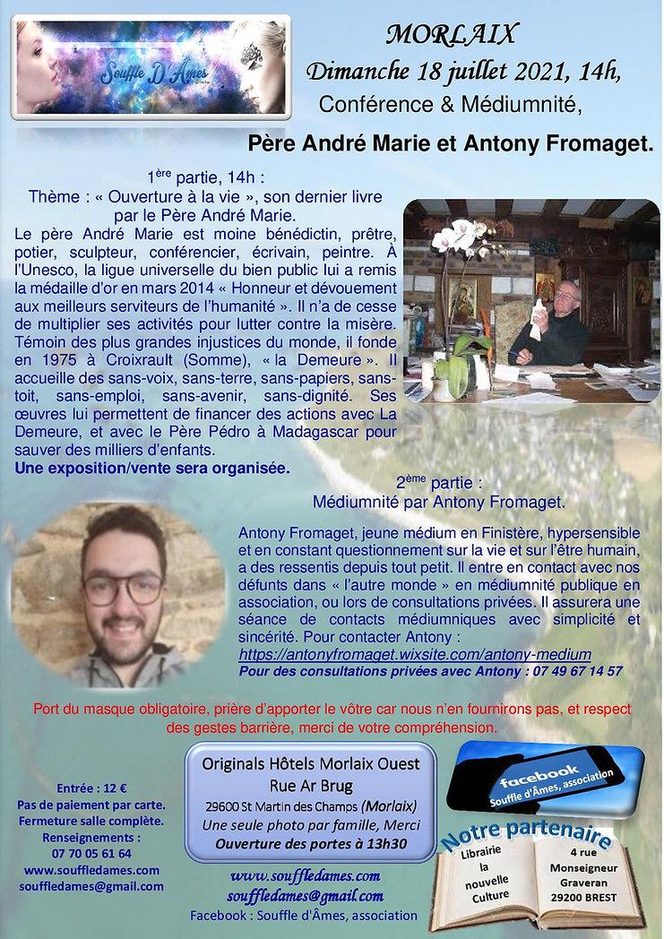 18 juillet 2021 Père André Marie et Anto