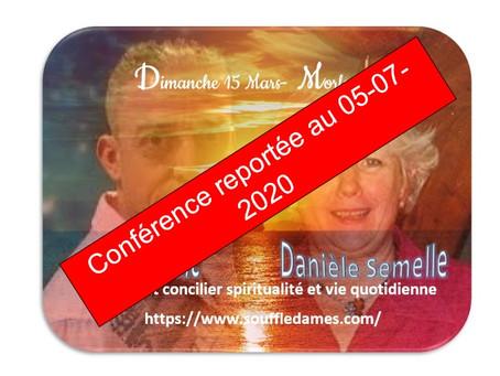 🌬️ 🌸 Dimanche 15 Mars #Morlaix  💋 Conférence et Médiumnité