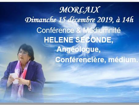 🌬️ 🌸 Dimanche 15/12/2019 Conférence et Médiumnité  à 💋 # Morlaix
