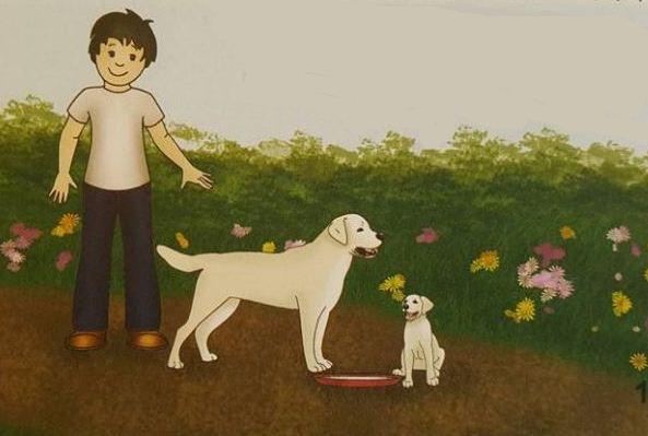 белая собака и щенок.JPG
