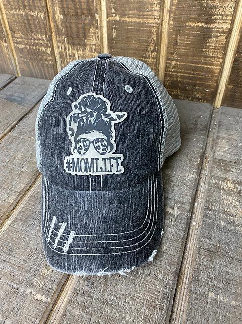 Mom Life Ponytail Hat