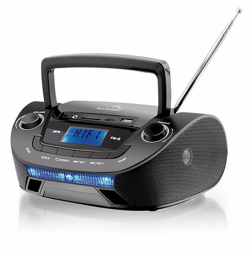 Rádio Portátil Multilaser Boom Box SP140