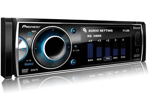"DVD Player Pioneer DVH-7680AV com Tela de 3"", Rádio AM/FM, Entrada Auxiliar Fron"