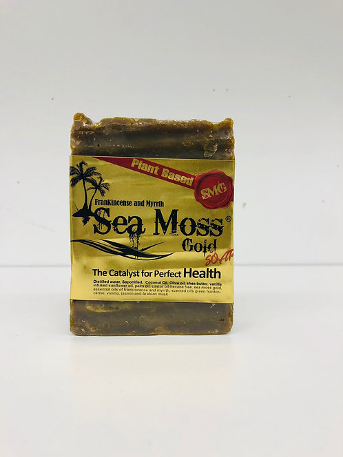 SEA MOSS GOLD INFUSED FRANKINCENSE AND MYRRH SOAP