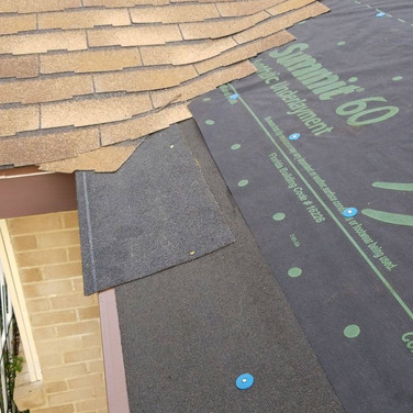 Atlas Summit 60 synthetic underlayment, with Atlas Ice and Water Shield, with Atlas Starter shingles, with Atlas Legend shingles.