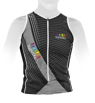 "Triathlon Top ""Tak"" ärmellos   Zipper"