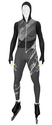 Eisschnelllauf Anzug lang | Zipper