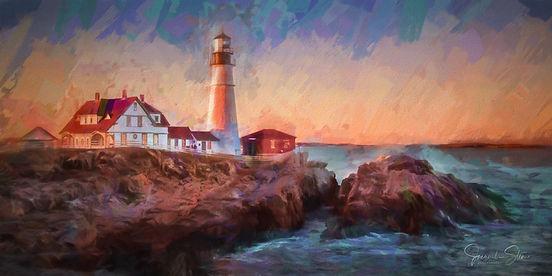 SM 12x24 Portland Head Lighthouse McMast