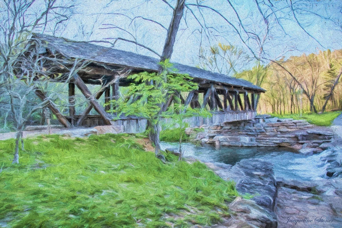 The Covered Bridge at Dogwood Canyon