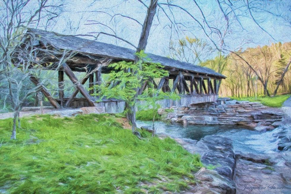The Covered Bridge at Dogwood Canyon