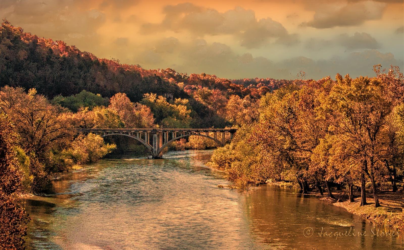 Galena Bridge at Sunset