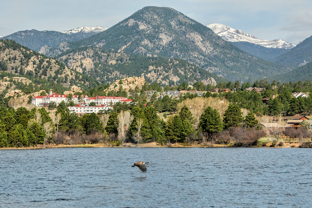 """The hotel in the distance is The Stanley Hotel - best known for its inspirational role in """"The Shining"""""""