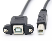 USB printing cable male to female with e