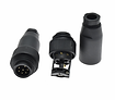 Waterproof male plug round C16-7P plasti